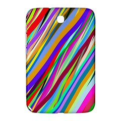 Multi Color Tangled Ribbons Background Wallpaper Samsung Galaxy Note 8 0 N5100 Hardshell Case  by Amaryn4rt