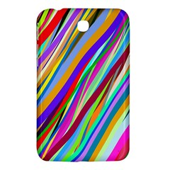 Multi Color Tangled Ribbons Background Wallpaper Samsung Galaxy Tab 3 (7 ) P3200 Hardshell Case  by Amaryn4rt