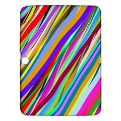 Multi Color Tangled Ribbons Background Wallpaper Samsung Galaxy Tab 3 (10 1 ) P5200 Hardshell Case  by Amaryn4rt