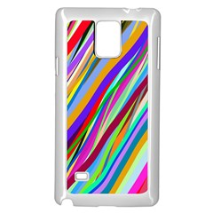 Multi Color Tangled Ribbons Background Wallpaper Samsung Galaxy Note 4 Case (white) by Amaryn4rt