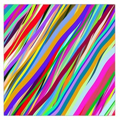 Multi Color Tangled Ribbons Background Wallpaper Large Satin Scarf (Square) by Amaryn4rt