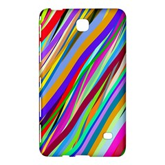 Multi Color Tangled Ribbons Background Wallpaper Samsung Galaxy Tab 4 (8 ) Hardshell Case  by Amaryn4rt