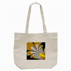 Fractal Gold Palm Tree On Black Background Tote Bag (cream) by Amaryn4rt