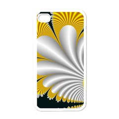 Fractal Gold Palm Tree On Black Background Apple Iphone 4 Case (white) by Amaryn4rt