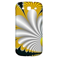Fractal Gold Palm Tree On Black Background Samsung Galaxy S3 S Iii Classic Hardshell Back Case by Amaryn4rt