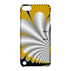 Fractal Gold Palm Tree On Black Background Apple Ipod Touch 5 Hardshell Case With Stand by Amaryn4rt