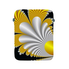 Fractal Gold Palm Tree On Black Background Apple Ipad 2/3/4 Protective Soft Cases by Amaryn4rt