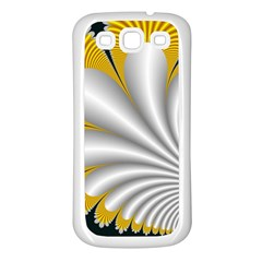 Fractal Gold Palm Tree On Black Background Samsung Galaxy S3 Back Case (white) by Amaryn4rt