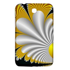 Fractal Gold Palm Tree On Black Background Samsung Galaxy Tab 3 (7 ) P3200 Hardshell Case  by Amaryn4rt