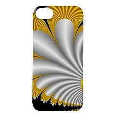 Fractal Gold Palm Tree On Black Background Apple Iphone 5s/ Se Hardshell Case by Amaryn4rt