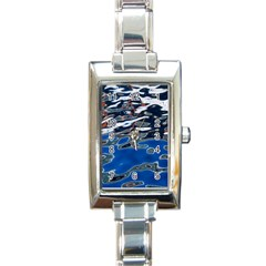 Colorful Reflections In Water Rectangle Italian Charm Watch by Amaryn4rt