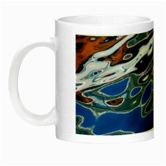 Colorful Reflections In Water Night Luminous Mugs by Amaryn4rt