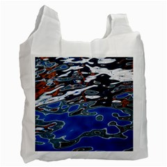 Colorful Reflections In Water Recycle Bag (two Side)  by Amaryn4rt