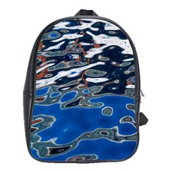 Colorful Reflections In Water School Bags(large)  by Amaryn4rt