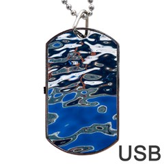 Colorful Reflections In Water Dog Tag Usb Flash (two Sides) by Amaryn4rt