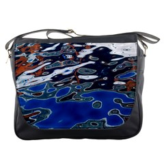 Colorful Reflections In Water Messenger Bags by Amaryn4rt