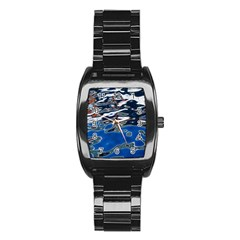 Colorful Reflections In Water Stainless Steel Barrel Watch by Amaryn4rt