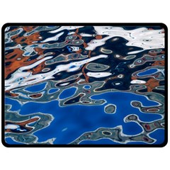 Colorful Reflections In Water Double Sided Fleece Blanket (large)  by Amaryn4rt