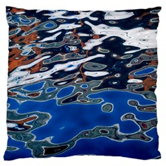 Colorful Reflections In Water Large Flano Cushion Case (two Sides) by Amaryn4rt