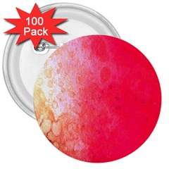 Abstract Red And Gold Ink Blot Gradient 3  Buttons (100 Pack)  by Amaryn4rt