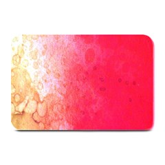 Abstract Red And Gold Ink Blot Gradient Plate Mats by Amaryn4rt