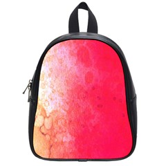 Abstract Red And Gold Ink Blot Gradient School Bags (small)  by Amaryn4rt