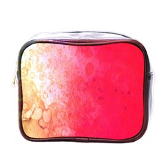 Abstract Red And Gold Ink Blot Gradient Mini Toiletries Bags by Amaryn4rt