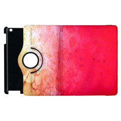 Abstract Red And Gold Ink Blot Gradient Apple Ipad 2 Flip 360 Case by Amaryn4rt
