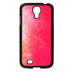 Abstract Red And Gold Ink Blot Gradient Samsung Galaxy S4 I9500/ I9505 Case (black) by Amaryn4rt