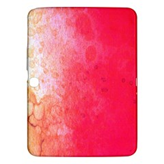 Abstract Red And Gold Ink Blot Gradient Samsung Galaxy Tab 3 (10 1 ) P5200 Hardshell Case  by Amaryn4rt
