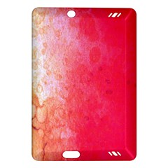 Abstract Red And Gold Ink Blot Gradient Amazon Kindle Fire Hd (2013) Hardshell Case by Amaryn4rt