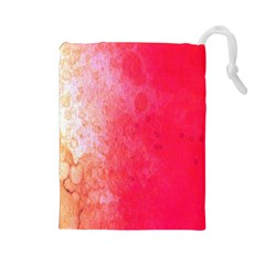 Abstract Red And Gold Ink Blot Gradient Drawstring Pouches (large)  by Amaryn4rt