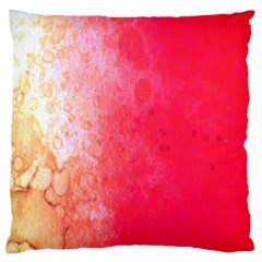 Abstract Red And Gold Ink Blot Gradient Large Flano Cushion Case (one Side) by Amaryn4rt