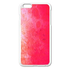 Abstract Red And Gold Ink Blot Gradient Apple Iphone 6 Plus/6s Plus Enamel White Case by Amaryn4rt