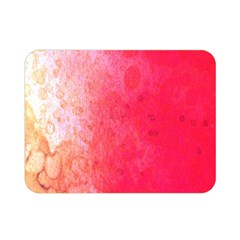 Abstract Red And Gold Ink Blot Gradient Double Sided Flano Blanket (mini)  by Amaryn4rt