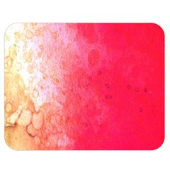 Abstract Red And Gold Ink Blot Gradient Double Sided Flano Blanket (medium)  by Amaryn4rt