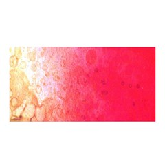 Abstract Red And Gold Ink Blot Gradient Satin Wrap by Amaryn4rt