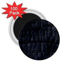 Black Burnt Wood Texture 2 25  Magnets (100 Pack)  by Amaryn4rt