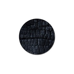 Black Burnt Wood Texture Golf Ball Marker (4 Pack) by Amaryn4rt