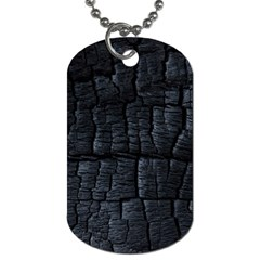 Black Burnt Wood Texture Dog Tag (two Sides) by Amaryn4rt