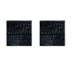 Black Burnt Wood Texture Cufflinks (square) by Amaryn4rt