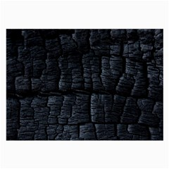 Black Burnt Wood Texture Large Glasses Cloth (2 Side) by Amaryn4rt