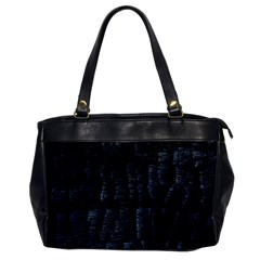 Black Burnt Wood Texture Office Handbags by Amaryn4rt
