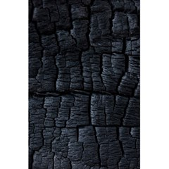 Black Burnt Wood Texture 5 5  X 8 5  Notebooks
