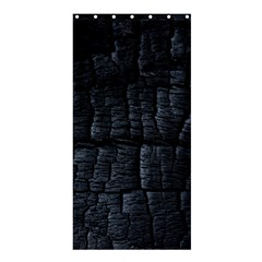 Black Burnt Wood Texture Shower Curtain 36  X 72  (stall)  by Amaryn4rt
