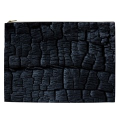 Black Burnt Wood Texture Cosmetic Bag (xxl)  by Amaryn4rt