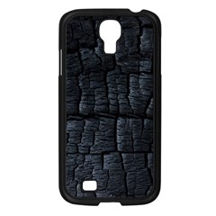 Black Burnt Wood Texture Samsung Galaxy S4 I9500/ I9505 Case (black) by Amaryn4rt