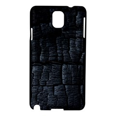 Black Burnt Wood Texture Samsung Galaxy Note 3 N9005 Hardshell Case by Amaryn4rt