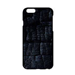 Black Burnt Wood Texture Apple Iphone 6/6s Hardshell Case by Amaryn4rt