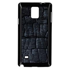Black Burnt Wood Texture Samsung Galaxy Note 4 Case (black) by Amaryn4rt